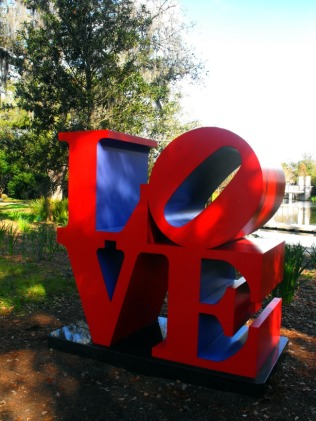 New Orleans - Love sculpture
