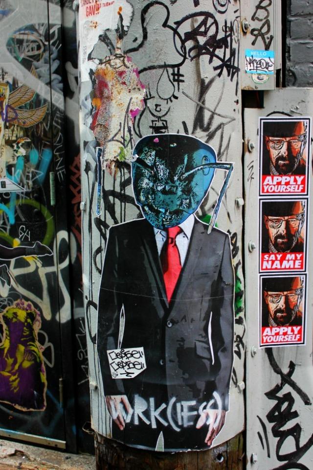 Vancouver - graffiti businessman