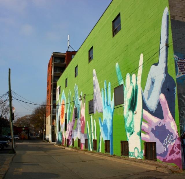 Toronto - mural hands