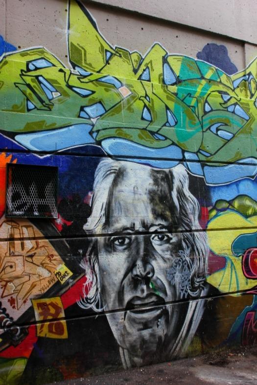 Vancouver - graffiti portrait