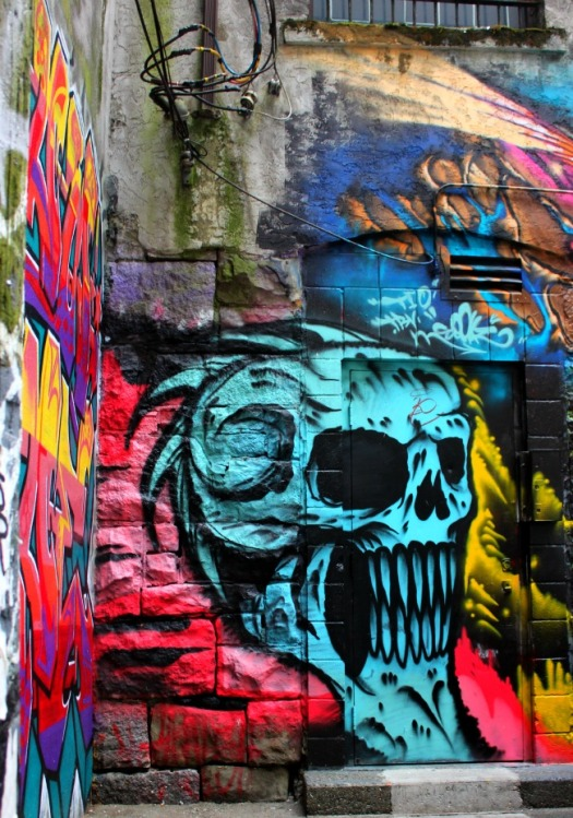 Vancouver - graffiti skull