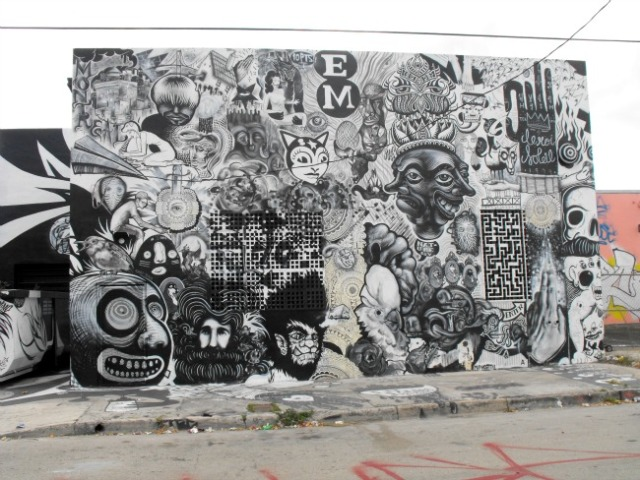 Miami - Wynwood Arts District b w imagination