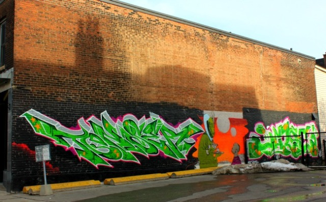 Toronto - green font graffiti