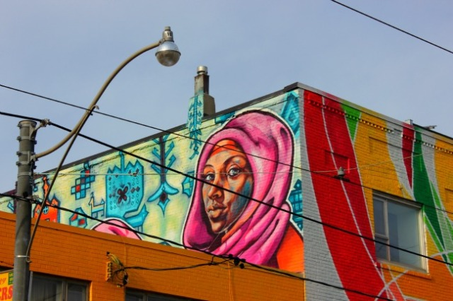Toronto - Little India woman mural