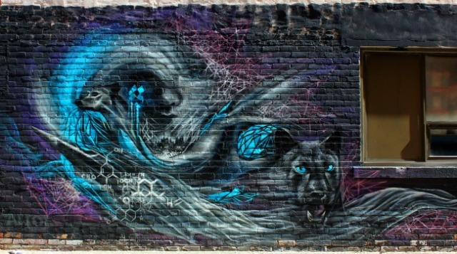 Toronto - cat and dog graffiti