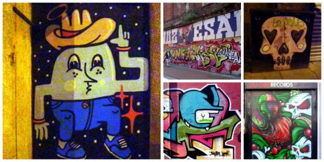 Belfast - graffiti collage