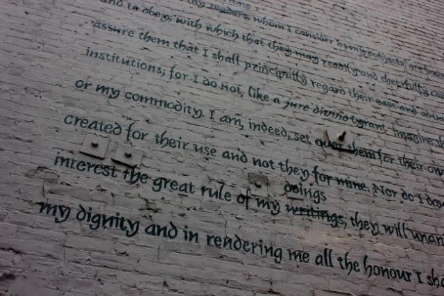 Toronto - mural: dignity