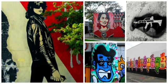 Miami - graffiti collage