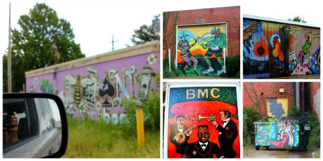 New Orleans graffiti collage