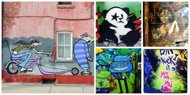 Toronto - graffiti collagae