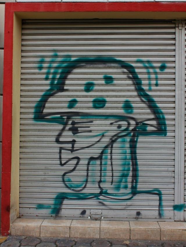 Ecuador - Quito graffiti profile