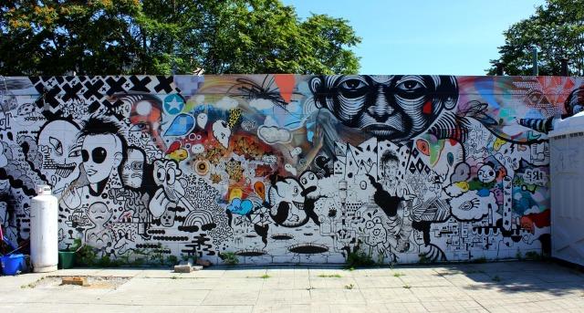Toronto - KM wall graffiti
