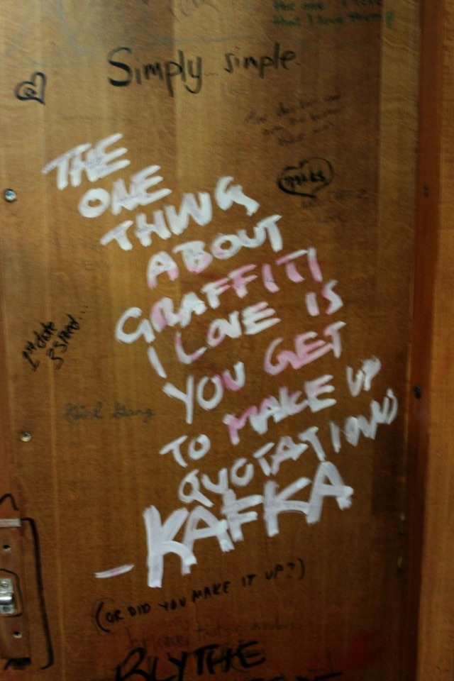 Toronto - bathroom graffiti quote