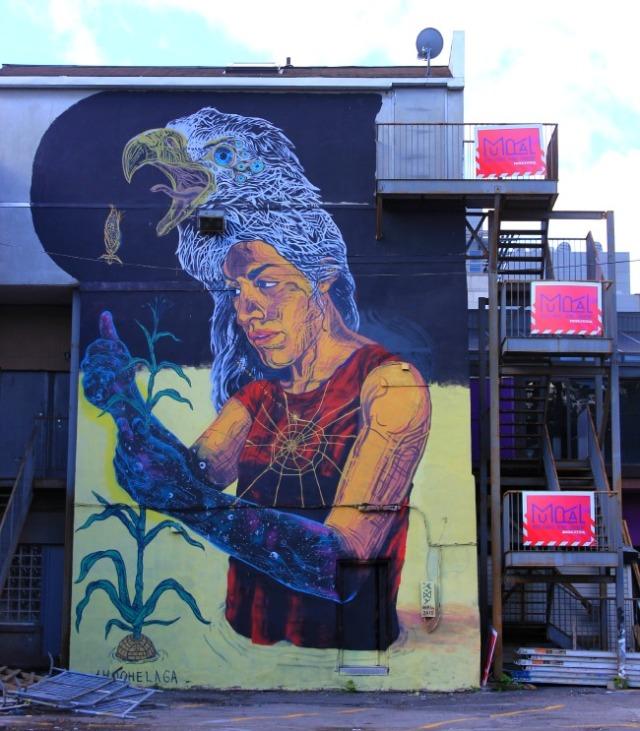Montreal - eagle woman graffiti
