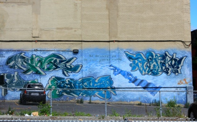 Montreal - blue graffiti
