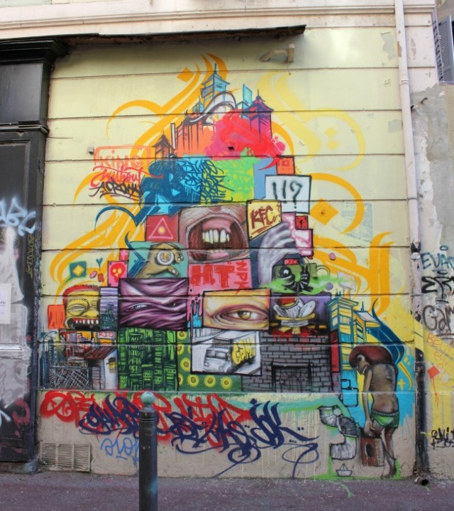 France - Marseille graffiti pyramid