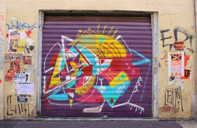 France - Marseille graffiti colour swirl