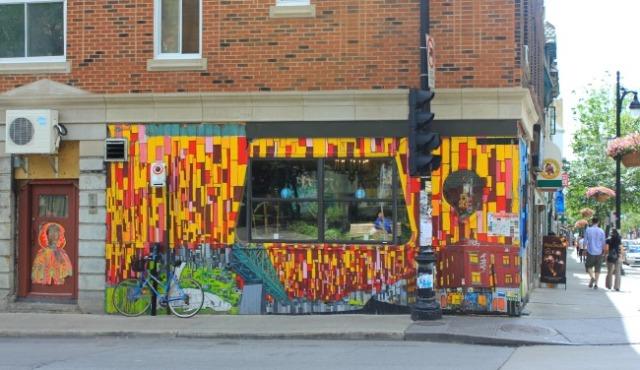 Montreal  - colourful corner graffiti