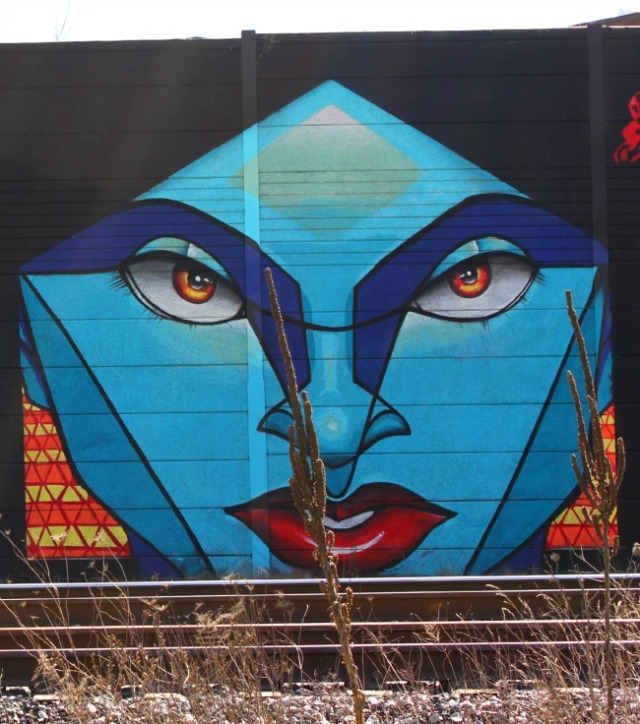 Toronto - graffiti blue face