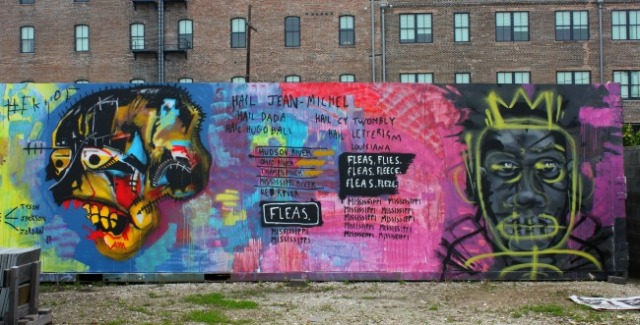 New Orleans - Basquiat graffiti tribute