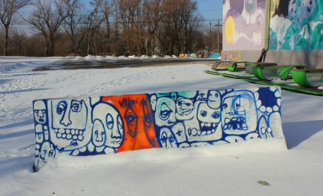 Omaha - graffiti faces