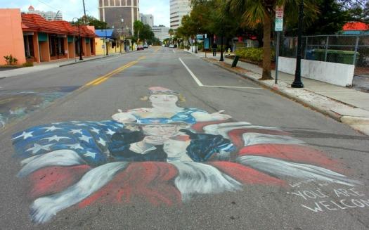 Sarasota - chalk welcome