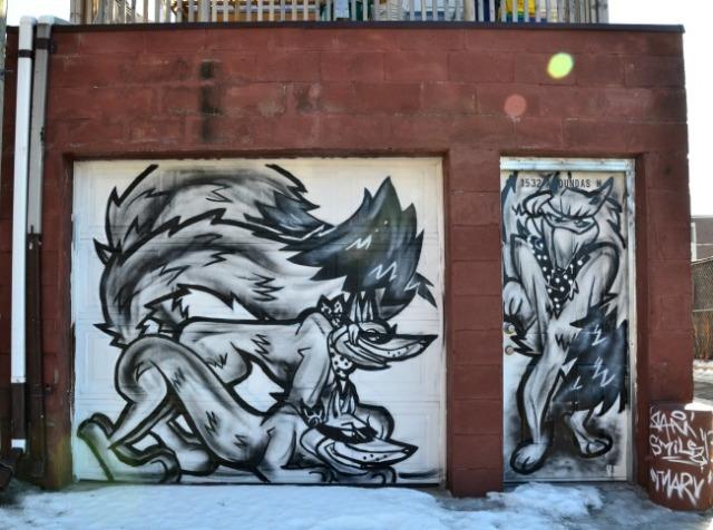 Toronto - wolf graffiti