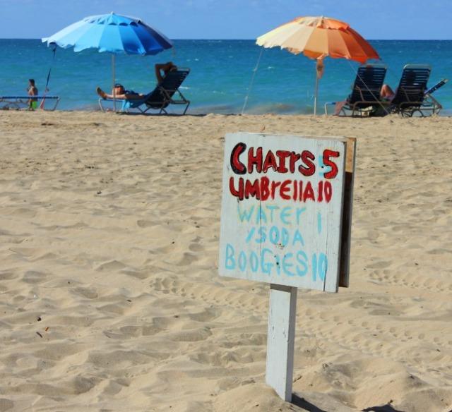 PR - San Juan Condado beach sign