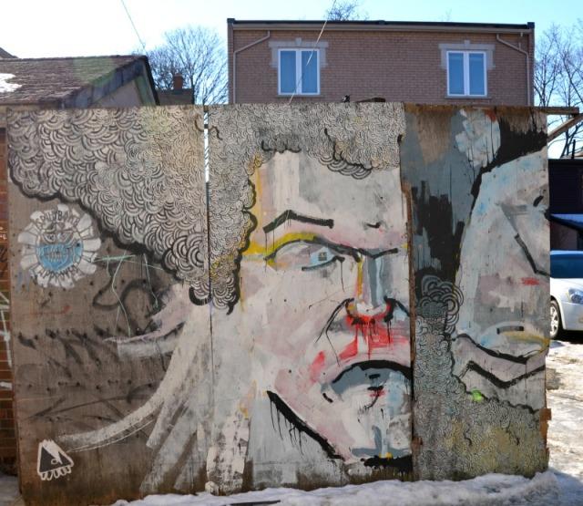 Toronto - graffiti angry stare