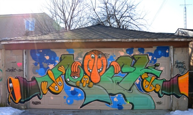 Toronto - graffiti orange