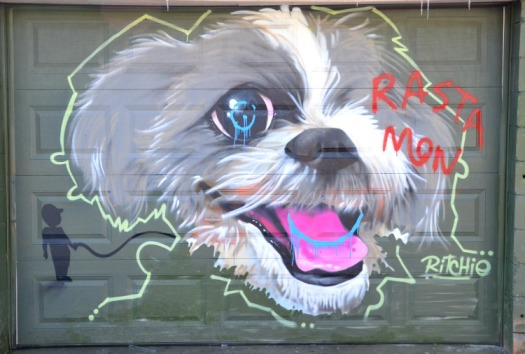 Toronto - Ritchie's puppy graffiti