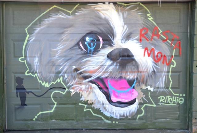 Toronto - Ritchie's puppy graffiti