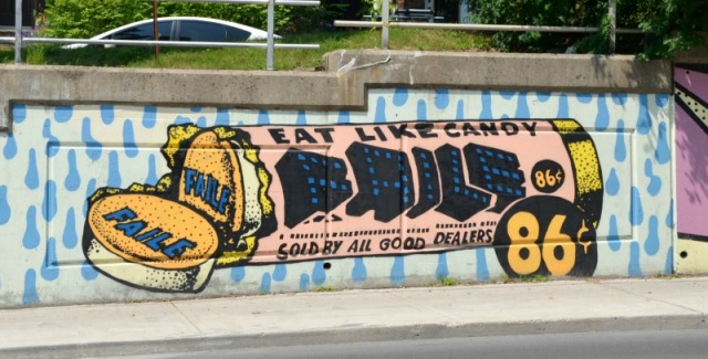 Toronto - Bathurst mural: eat like candy