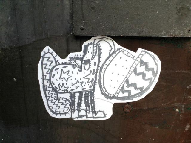 Toronto - alley creature graffiti
