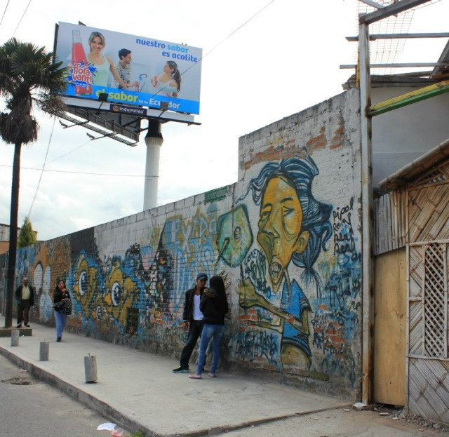 Quito - graffiti street view