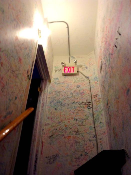 Toronto - stairway wall graffiti