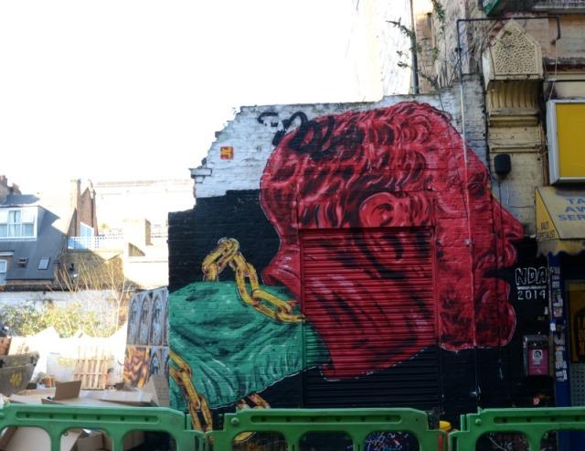 London - Brick Lane graff redhead