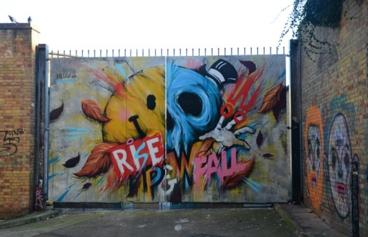 London - rise fall graffiti