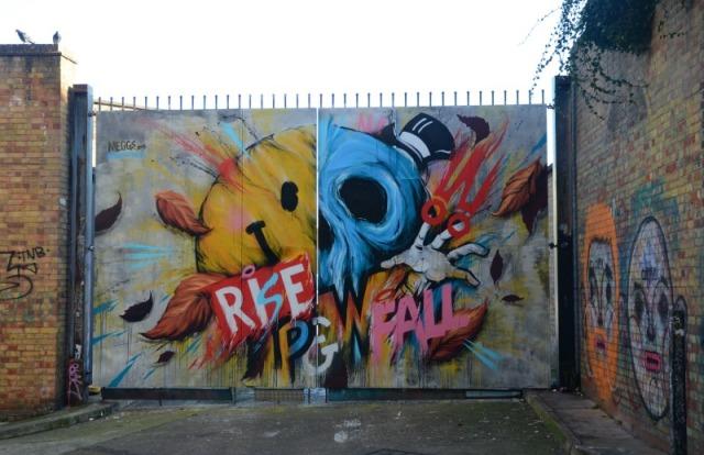 London - rise fall graffiti