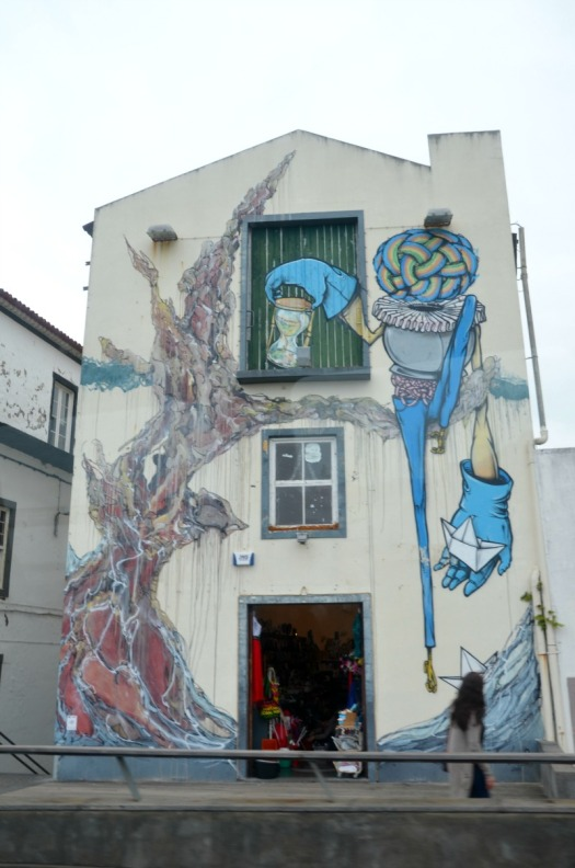 Azores - graffiti puppet