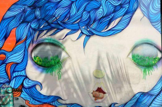 Miami - green eyes graffiti