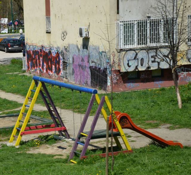 Bosnia - graffiti playground