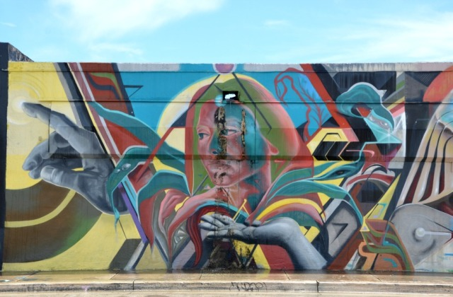 Miami - graffiti lady