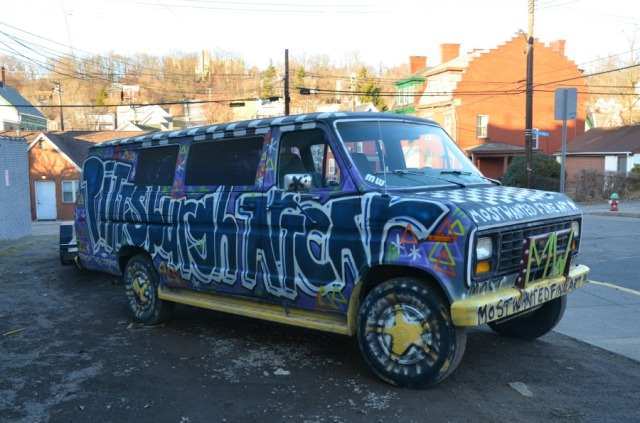 Pittsburgh art car graffiti