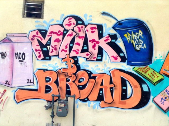 Miami - milk and bread graffiti