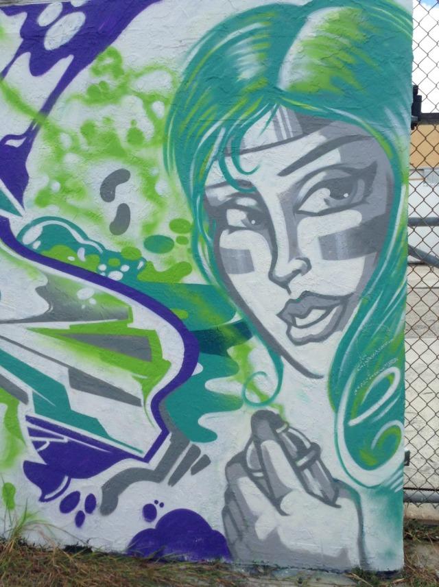 Miami - Wynwood graffiti she