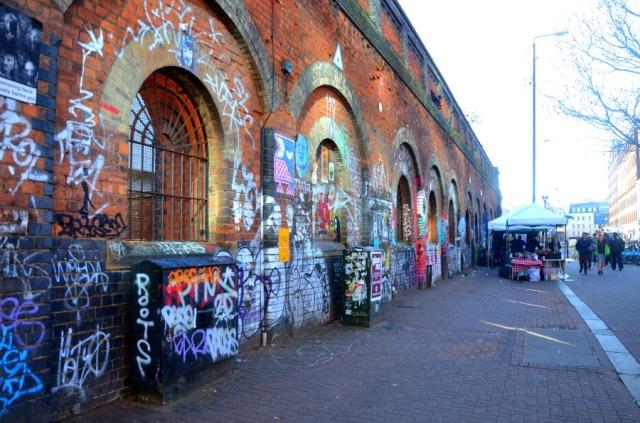 London - Shoreditch graff wall