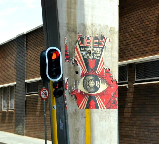 Johannesburg - obey robot graffiti