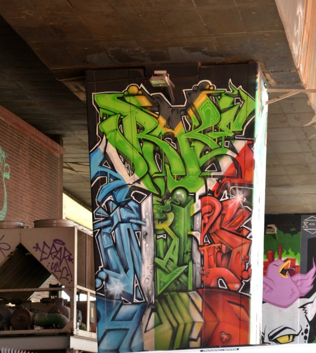 Johannesburg - tri colour graff