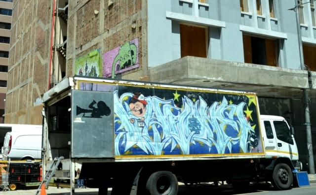 Johannesburg - truck graff